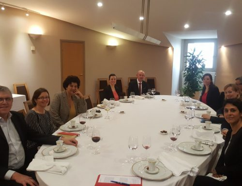 Lunch with Frédérique Vidal, the Minister of Higher Education, Research and Innovation